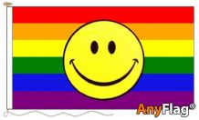 RAINBOW SMILEY ANYFLAG RANGE - VARIOUS SIZES